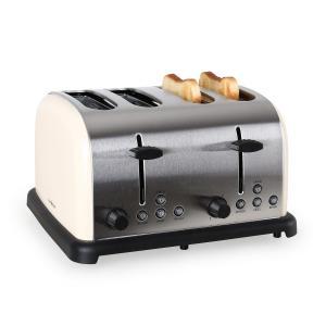 Toaster Klarstein din otel inoxidabil, 1650 W, crem