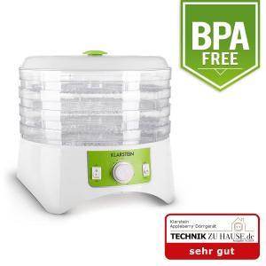 Klarstein Apple a Berry dehydrator Alb / Verde 400W uscător dehydrator 4 etaje