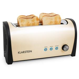 Klarstein Cambridge dublu lung Slot toaster 1400W crem