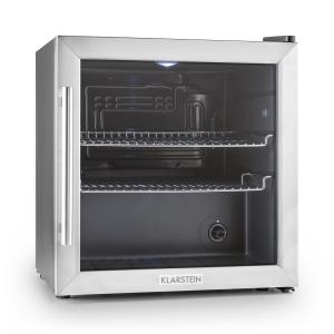 Klarstein Beersafe L frigider 50 litri usa de sticla, clasa B din oțel inoxidabil