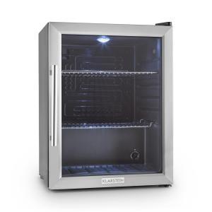 Klarstein Beersafe XL frigider 60 litri usa de sticla, clasa B din oțel inoxidabil