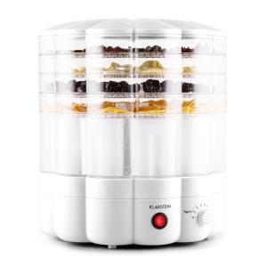 Klarstein YoFruit uscător de fructe 5 etaje cu filtru de iaurt alb