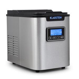 Klarstein ICE6 Icemeister, aparat pentru prepararea de cuburi de gheață, 12 kg/24 h., oțel inoxidabil, negru