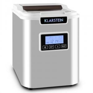 Klarstein ICE6 Icemeister, aparat pentru prepararea de cuburi de gheață, 12 kg/24 h., oțel inoxidabil, alb