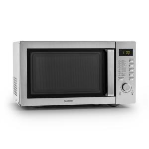 Klarstein Steelwave microunde 23L 800W Grill 1000W oțel inoxidabil
