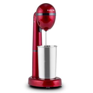 Klarstein van Damme Bea Mixer agitator 100W 450ml din oțel inoxidabil Cocktail Shaker roșuv