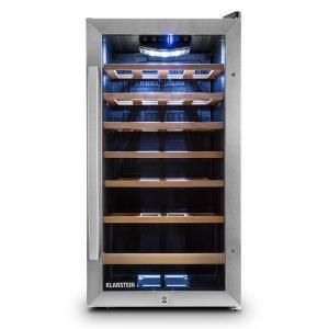 Klarstein Vivo Vino 26, 88 litri, cramă de răcire, 26 de sticle, oțel inoxidabil, cu LED-uri