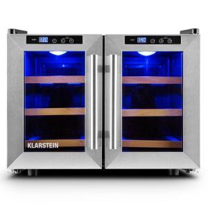 Klarstein Reserva Saloon, 40 de litri, cramă de răcire, 12 sticle, oțel inoxidabil, LED-uri
