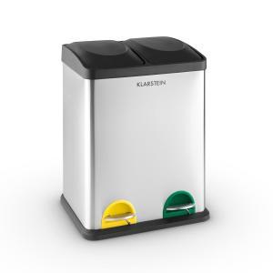 Klarstein Ökosystem, coș pentru sortarea gunoiului, 2 x 18 litri