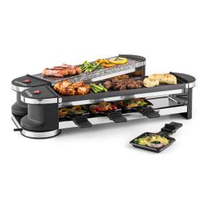 Klarstein Tenderloin 50/50 raclette grill 1200W 8 persoane Piatra naturala