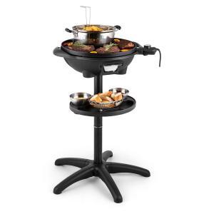 Klarstein Grillpot, 1600 W, 40 cm, gril electric, gril în picioare, grătar de masă, fontă