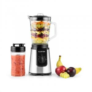 Klarstein Shiva Blender Smoothie Mini Blender de sticlă 0.8L cana 350W BPA-free inoxidabil negru