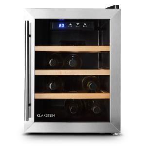 LED Klarstein Reserva 12 Uno Vinotecă 12 sticle 33 litri din oțel inoxidabil