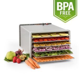 Klarstein uscator de fructe sacadat Pro 6 Alimente dehydrator dehydrator 630W 6 etaje din oțel inoxidabil