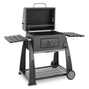 Klarstein Bigfoot gratar fumător BBQ Grill 55 x 40 cm, din oțel negru