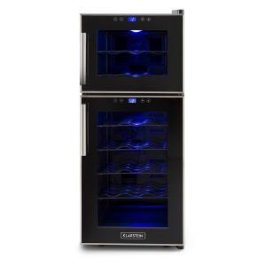 KLARSTEIN Reserva 21 frigider de vin 2 zone, 56 L , 21 STICLE Clasa D , negru