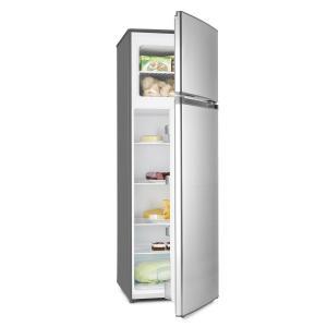 Klarstein frigider cu congelator 2 USI A ++ argintiu