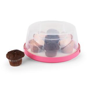 KLARSTEIN PINKKÄPPCHEN, roz, capac de tort, cutie pentru tort, Ø26 cm