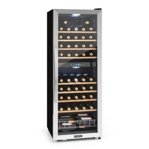 KLARSTEIN VINAMOUR 54D,vinoteca, 2 zone, 148 L, 54 STICLE, din oțel inoxidabil, negru