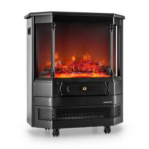 KLARSTEIN CASTILLO, negru, șemineu electric, simulare halogenă a focului