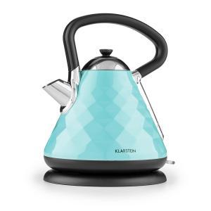 Klarstein Curacao Azur, azur, ceainic electric, 2200 W, 1,7 litri, oțel inoxidabil