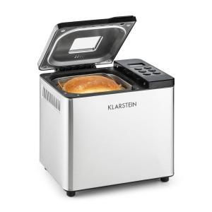 Klarstein aparat de facut paine 550 W 750g din oțel inoxidabil argintiu / negru
