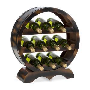 KLARSTEIN Barrica, suport din lemn pentru vinuri, 10 sticle, brad