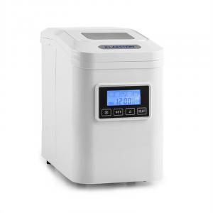 Klarstein Lannister mașină de gheață cu temporizator 10 kg / 24 de ore, ecran de afișare, alba