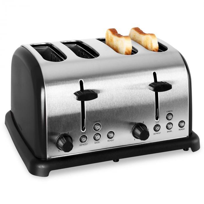 Prăjitor de pâine , 4 felii, oțel inoxidabil, 1650W